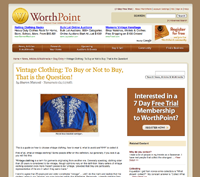 Worthpoint - Vintage Clothing: To Buy or Not to Buy, That is the Question?